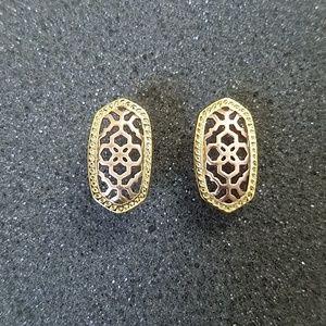 Kendra Scott Ellie Rose gold filigree studs